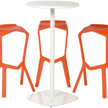 Ensemble Miura Blanc et Orange